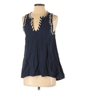 Black Swan Embroidered Lace Tank New